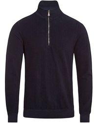 Orlebar Brown Hewson Half Zip Sweatshirt - Blue