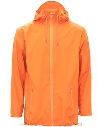 Rains Orange Breaker Jacket