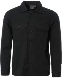 Naked & Famous Naked & Famous Rinsed Oxford Workshirt - Bl - Black