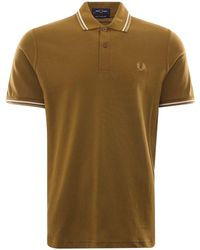 Fred Perry Fred Perry M12 Twin Tipped Polo Shirt - Green