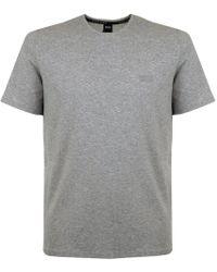 BOSS - Hugo Boss Black Shirt Rn Ss Medium Grey T-shirt - Lyst