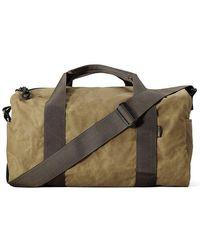 Filson Small Field Duffle Bag- Dark Tan & Brown 11070110