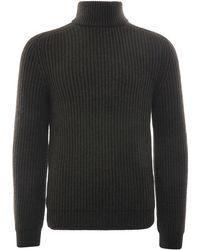 Edwin Roni High Collar Sweater - Multicolor