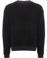 HUGO - Spumon Knitted Jumper - Charcoal - Lyst