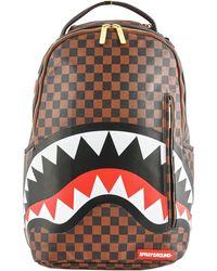 Sprayground Sleek Sharks In Paris Backpack - Brown