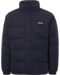 Schott Nyc Nebraska Oversized Puffer Jacket - Blue