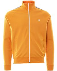 Fred Perry Tape Track Jacket - Orange
