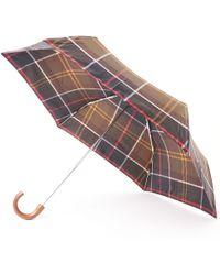 Barbour - Tartan Mini Umbrella - Green & Yellow - Lyst