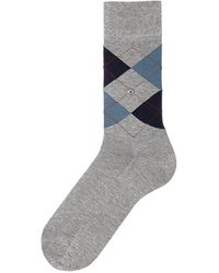 Burlington Burlington Manchester Gray Argyle Socks 20182 3619 Co
