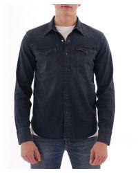 Levi's Barstow Western Shirt - Bruised Dark Indigo - Blue