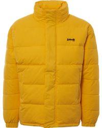 Schott Nyc Nebraska Oversized Puffer Jacket - Yellow