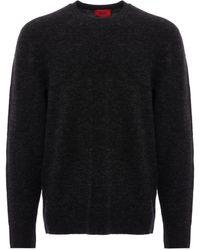 HUGO Seridon Knitted Sweater - Gray