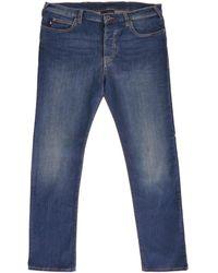 Emporio Armani J21 Regular Fit Stretch Denim Jeans - Blue