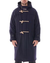 Gloverall Portsmouth Padded Duffle Coat - Blue