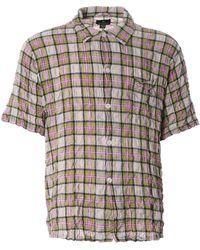 Nigel Cabourn - Frankies Creased Shirt Green Ncs-53 - Lyst
