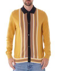 Ben Sherman Long Sleeve Mod Knit Cardigan - Dijon - Multicolor
