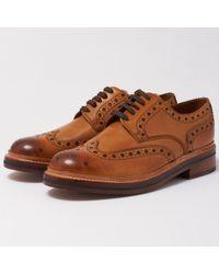Grenson Archie Tan Calf Brogue Shoes 5067/02 - 110006 - Multicolour