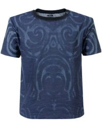 Armani Jeans - Blue Dyed T Shirt - Lyst