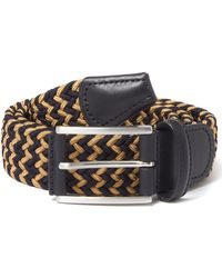 Andersons - Anderson Belt's Navy & Gold Woven Belt - Lyst