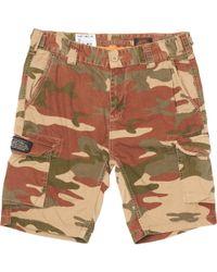 Schott Nyc Orange Camo Tr Olimpo 30 Shorts - Green