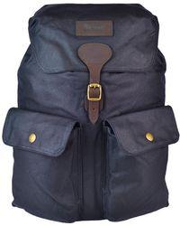 Barbour - Navy Beaufort Backpack - Lyst