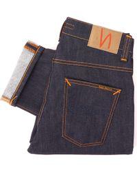 Nudie Jeans Grim Tim Denim Jeans - Dry Open Navy - Blue