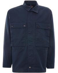 Nigel Cabourn Zip Military Jacket - Blue