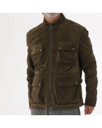 36aa62e37 Belstaff Hallington Blouson In Black Technical Leather in Black for ...
