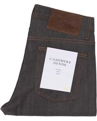 Naked & Famous Naked And Famous Weird Guy Cashmere Stretch Bl - Blue
