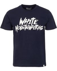 White Mountaineering Logo Printed T-Shirt - Blue
