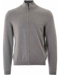BOSS Green Zip Through Sweatshirt - Gray