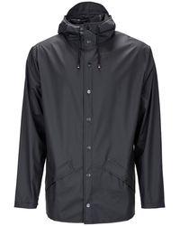 Rains Hooded Jacket - Black