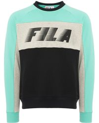 Fila Vintage - Black & Grey Layton Sweatshirt - Lyst