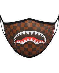 Sprayground Sharks In Paris Face Mask - Brown