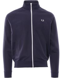 Fred Perry Sports Authentic Tape Track Blue Jacket J6231