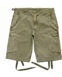 Maharishi M65 Olive Vintage Garment Dyed Cargo Shorts - Green