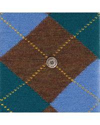 Burlington Melange Edinburgh Socks - Brown