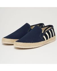 Armor Lux Striped Canvas Espadrilles Navy & Natural 76715-b15 Colo - Blue