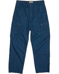 Nigel Cabourn Dutch Pant Cotton Herringbone Twill - Blue