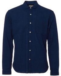 Oliver Spencer | Indigo Rinse Eton Shirt | Lyst