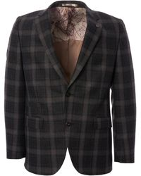 Gibson London Tartan Check Blazer - Gray