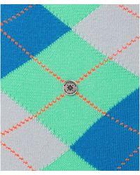 Burlington King Argyle Socks - Green