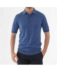 John Smedley Adrian Polo Shirt - Blue