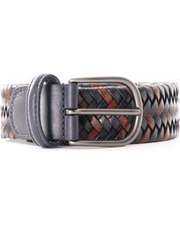 Andersons Stretch Woven Leather Belt - Multicolor