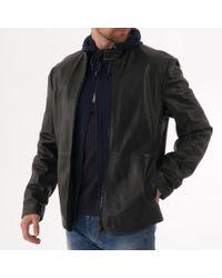 Emporio Armani - Lamb Leather Biker Jacket - Black - Lyst