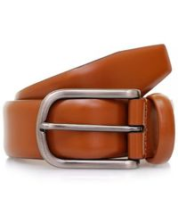 Andersons Anderson's Tan Shine Leather Belt A/1981 Pl - Brown