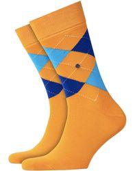 Burlington Burlington King Socks | Orange/blue | 21020-8925 Col