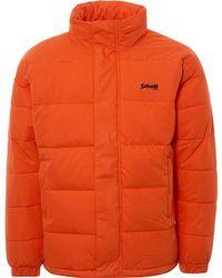 Schott Nyc Nebraska Oversized Puffer Jacket - Orange