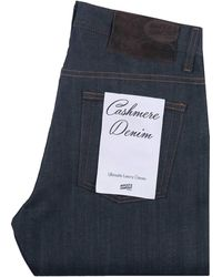 Naked & Famous Easy Guy Cashmere Stretch Blend Denim Jeans - Blue