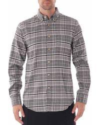 Portuguese Flannel Siberia Long Sleeve Flannel Shirt - Grey